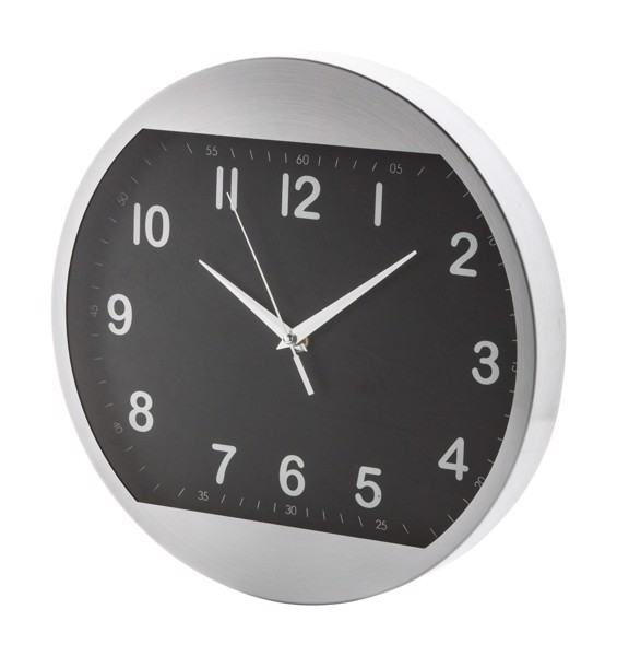 Wall Clock Tucana - Black / Silver