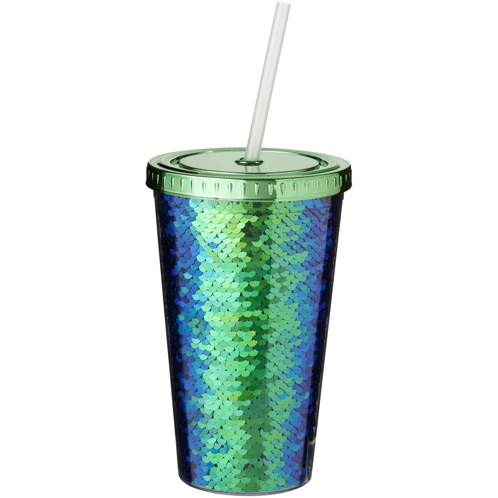 Akrylová odlivka Festus 470 ml s flitry - Zelená
