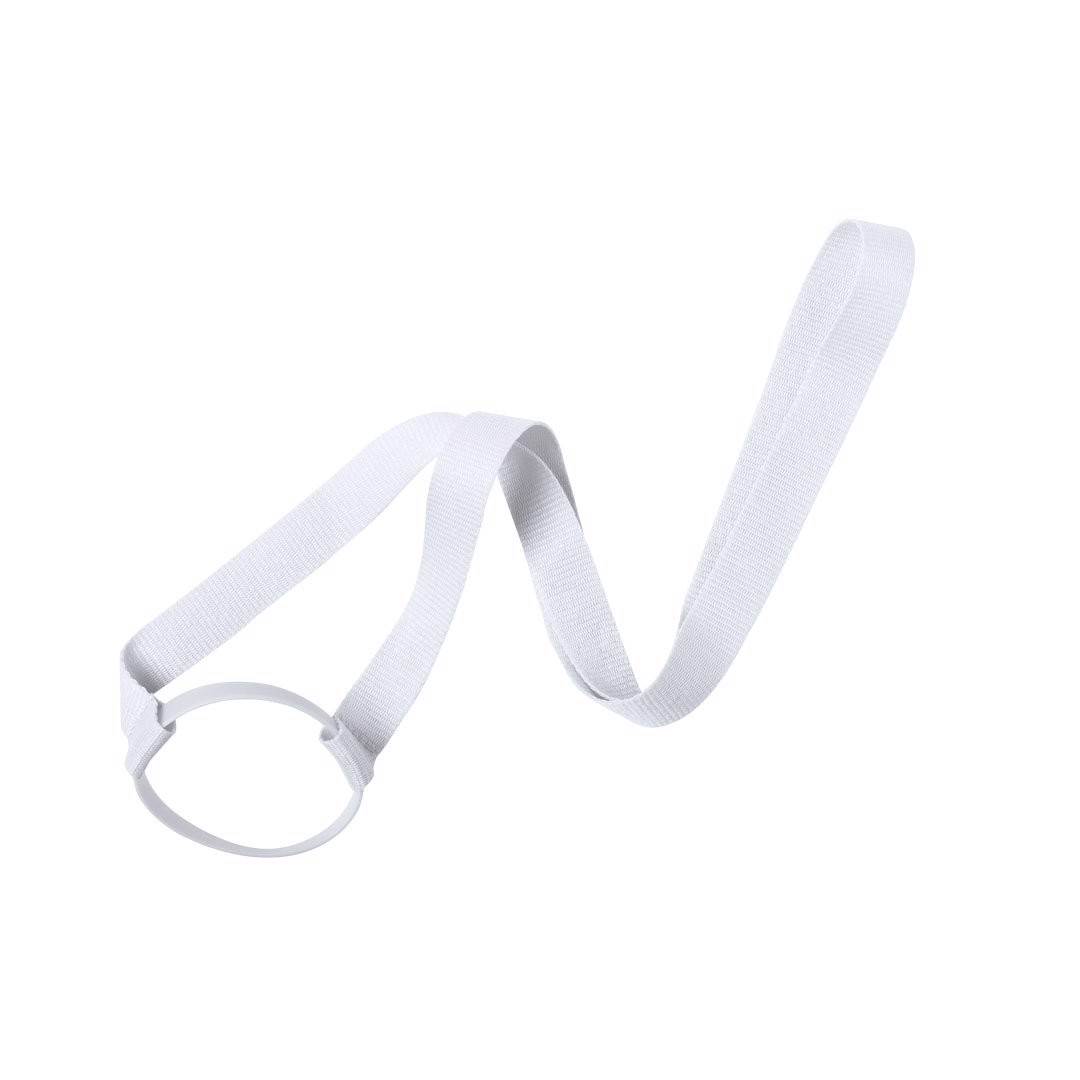 Lanyard Cup Holder Frinly - White