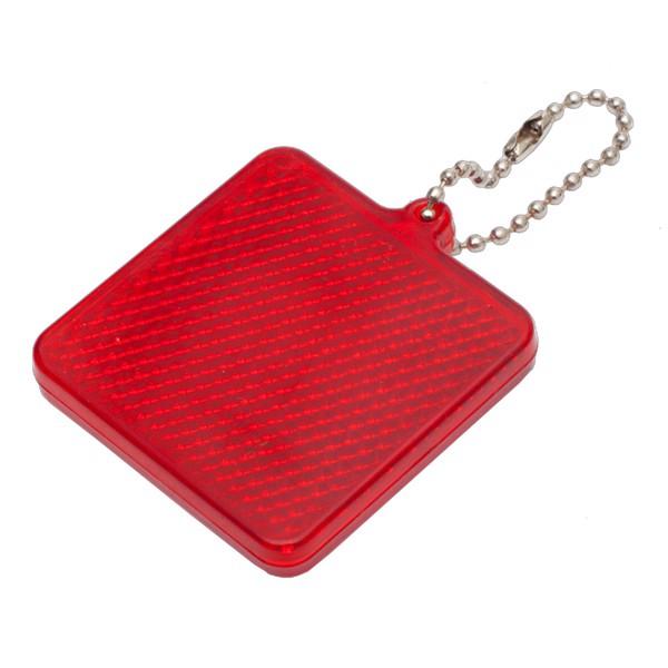 Światełko odblaskowe Square Reflect - Czerwony
