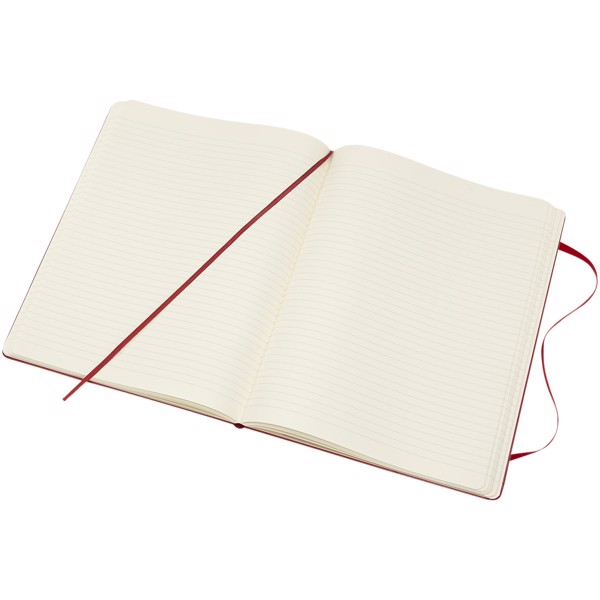 Classic XL hard cover notebook - ruled - Scarlet Red