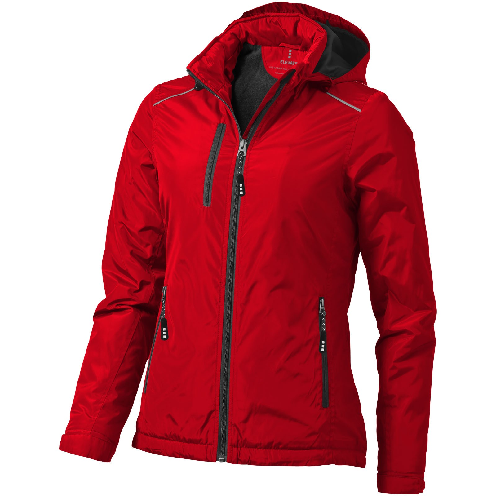 Smithers fleece lined ladies jacket - Red / XL
