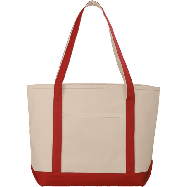 Premium heavy-weight 610 g/m² cotton tote bag - Natural / Red