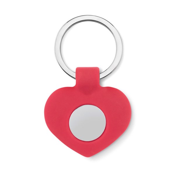 Silicone key ring with token Cuore