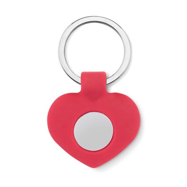 Silikonová klíčenka se žetonem Cuore