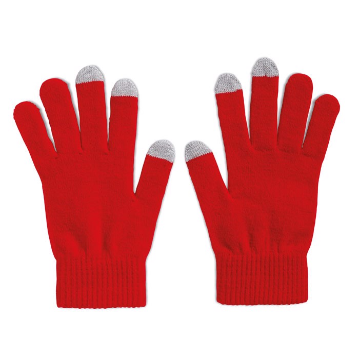 Tactile gloves for smartphones Tacto - Red