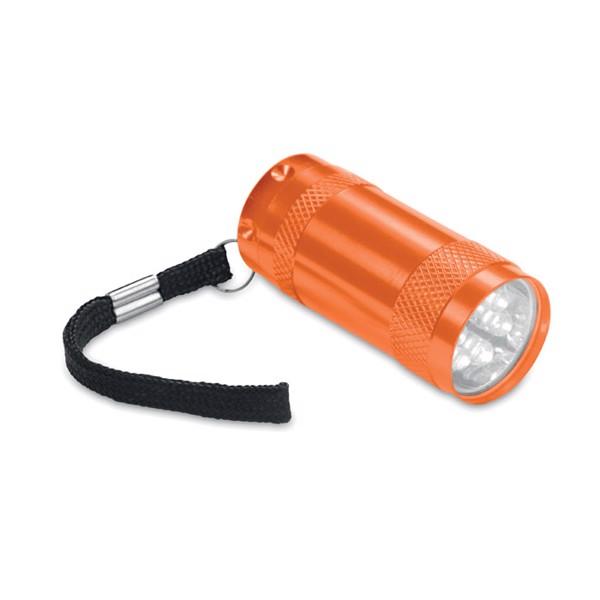 Mini-lanternă aluminiu+lanyard Texas - orange
