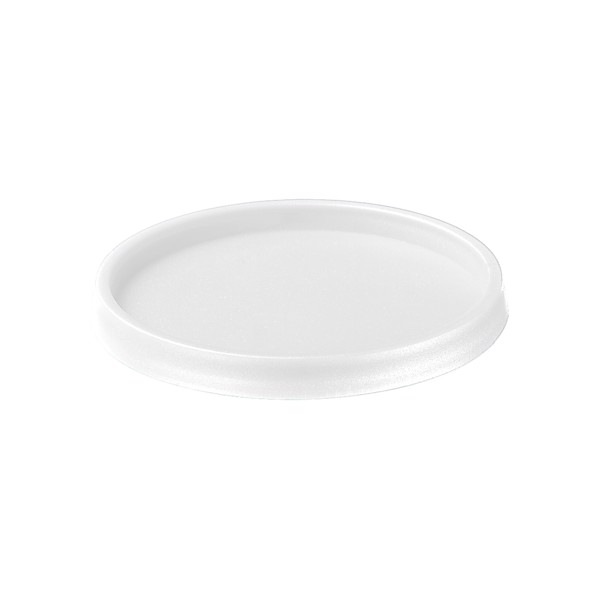 """Coaster And Lid """"2 In 1"""" - White"""