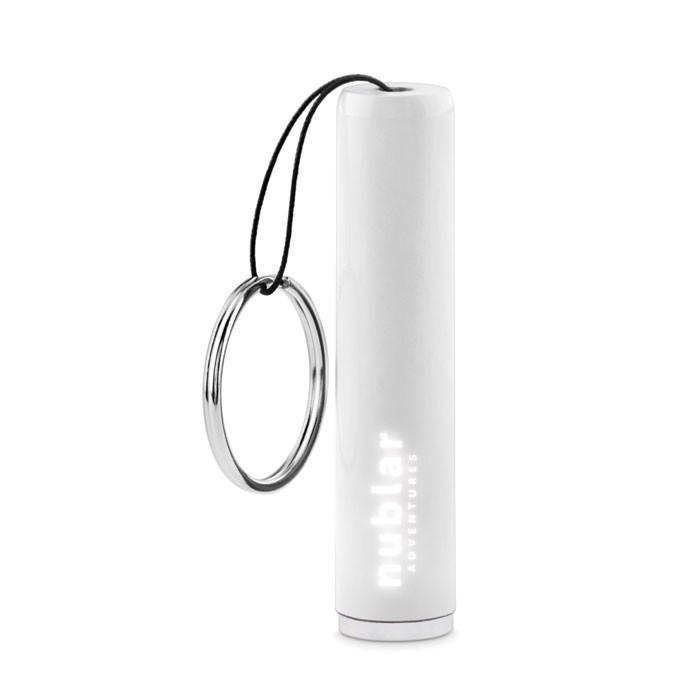 Plastic light up logo torch Sanlight - White