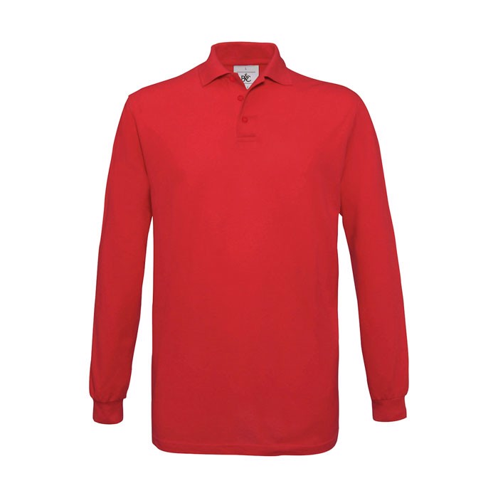 Men's Polo Shirt 180 g/m2 Safran Polo Longsleeve - Red / 3XL