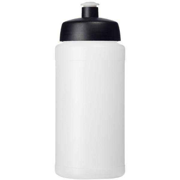 Baseline® Plus 500 ml lahev se sportovním víčkem - Průhledná / Černá