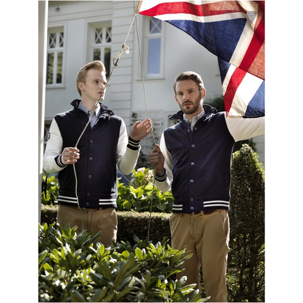 Varsity sweat jacket - Navy / Off white / S
