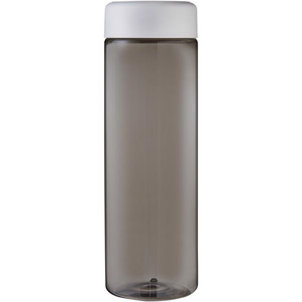 H2O Vibe 850 ml screw cap water bottle - Charcoal / White