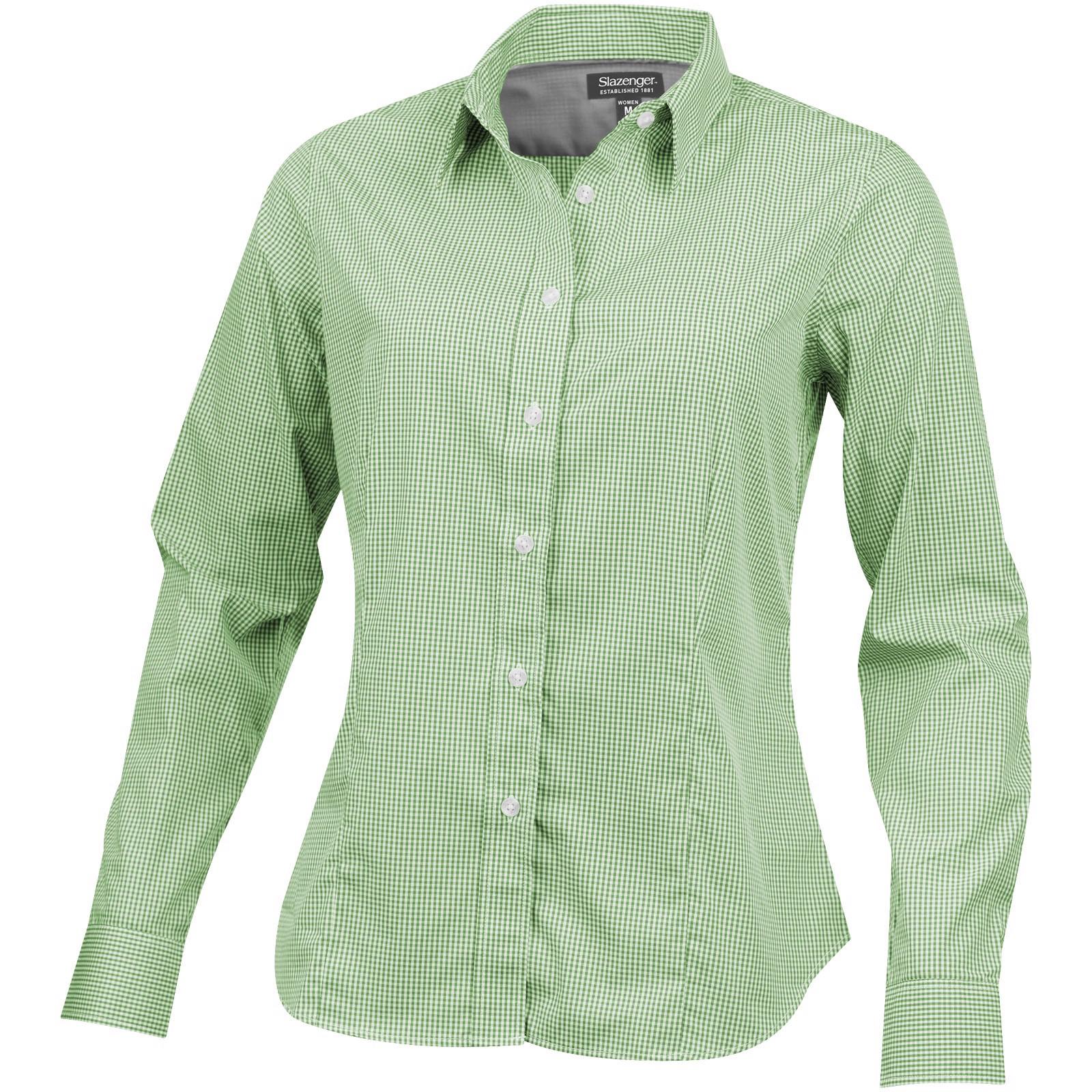 Dámská košile Net s dlouhým rukávem - Zelená / M