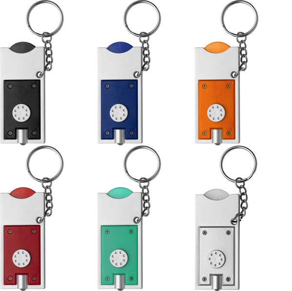 PS key holder with coin - Black