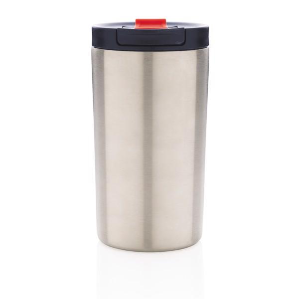 Nepropustný termohrnek se zámkem - Stříbrná / Modrá