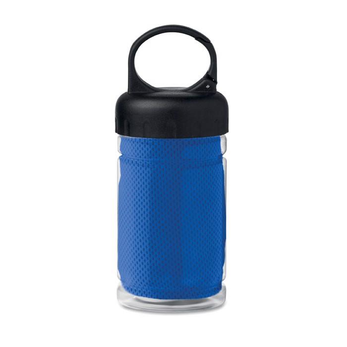 Cooling towel in PET bottle Fris - Royal Blue
