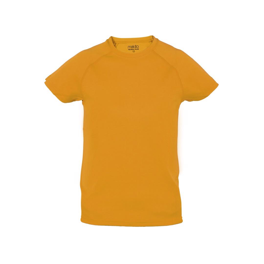 T-Shirt Criança Tecnic Plus - Orange / 10-12
