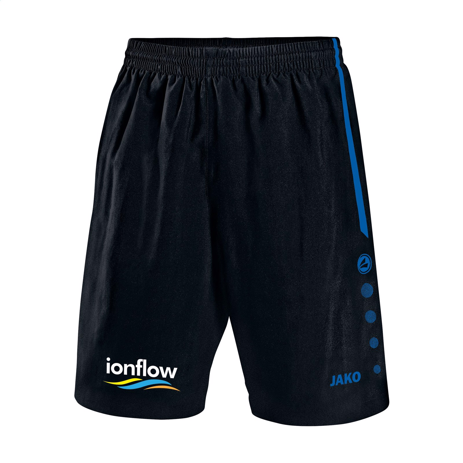 Jako® Shorts Turin mens - Black / Cobalt Blue / XL