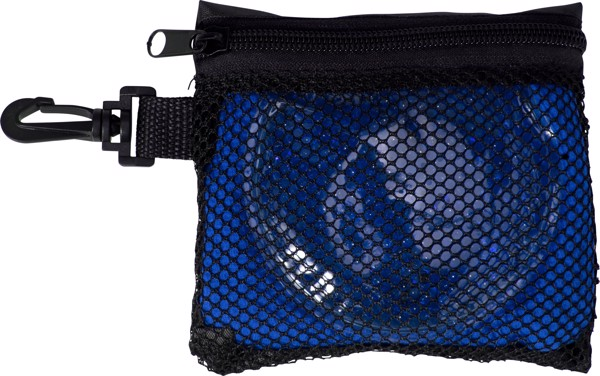 Polyester (420D) pouch with sports set - Cobalt Blue