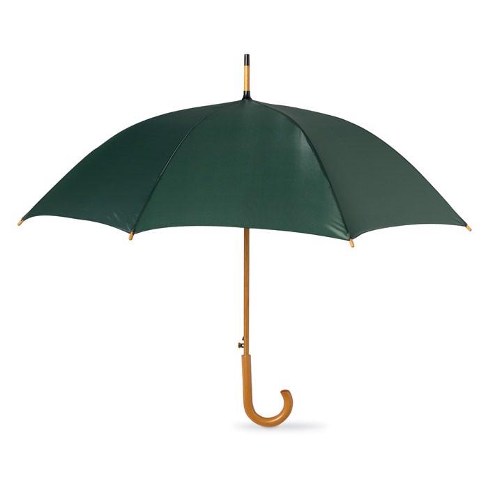 Parasol z drewnianą rączką Cumuli - zielony