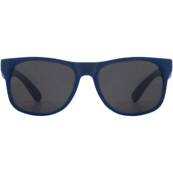 Retro einfarbige Sonnenbrille - Royalblau