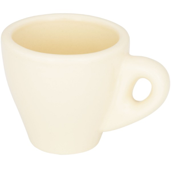 Perk 80 ml colour ceramic espresso mug - Cream