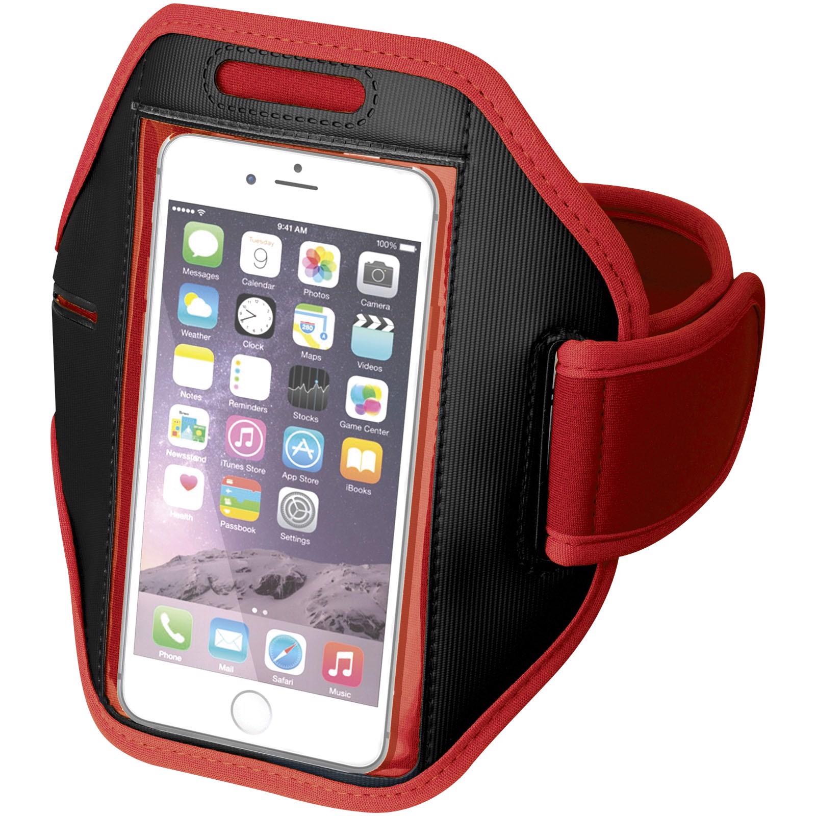Pažní páska Gofax s dotekovou folií pro chytrý telefon - Červená s efektem námrazy