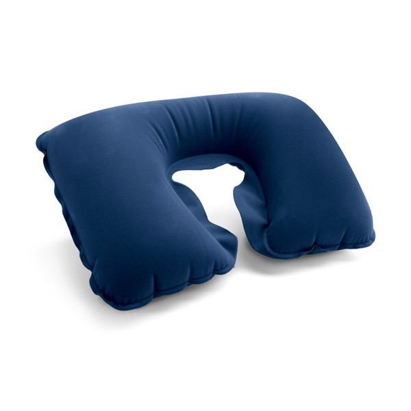 STRADA. Inflatable neck pillow - Blue