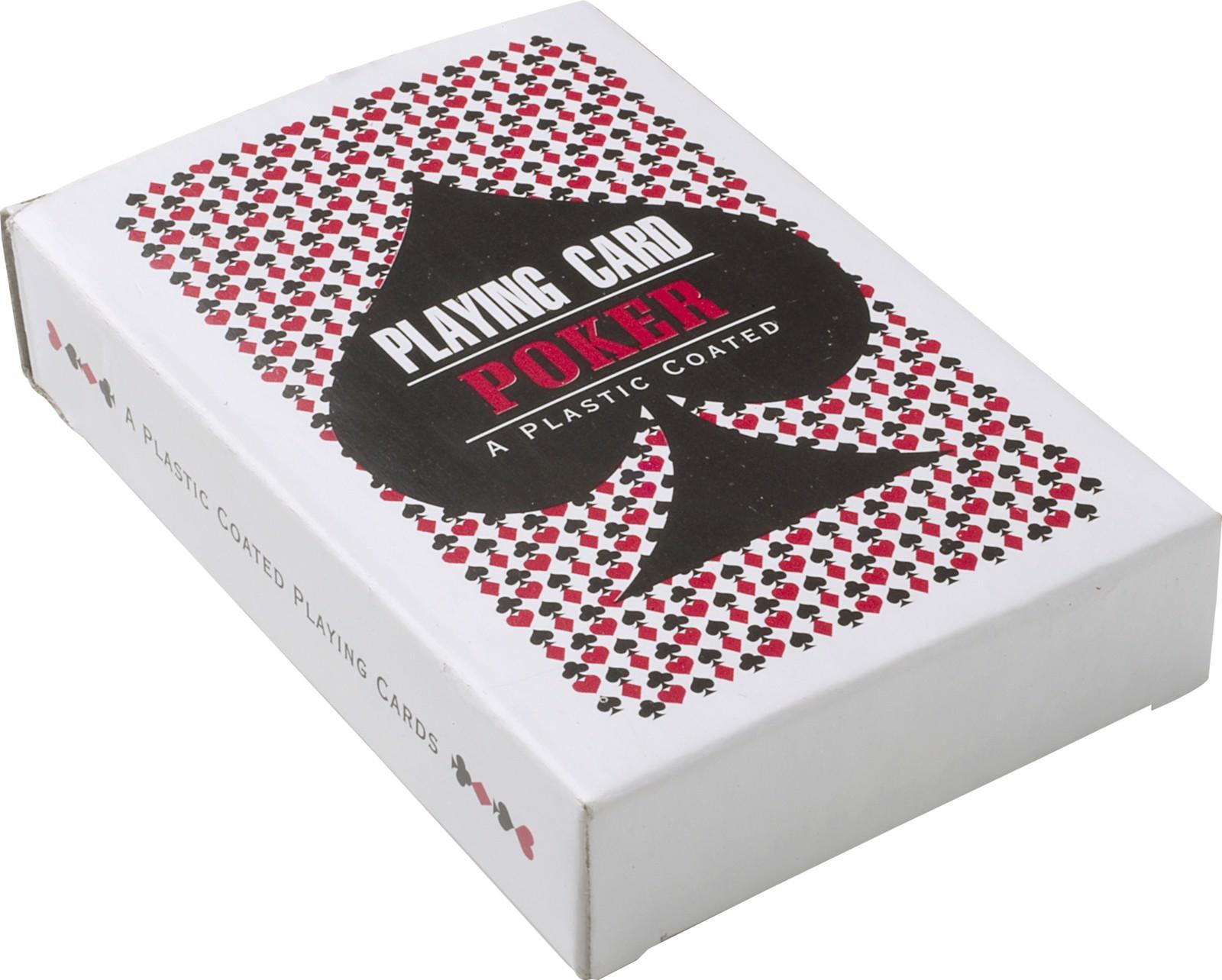 Caja de cartón con baraja de cartas