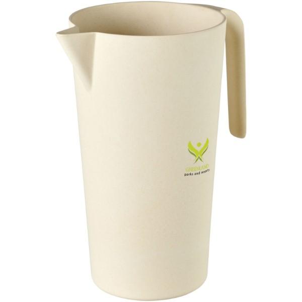 Bambusová karafa Hermes o objemu 1,7 litru - Béžová
