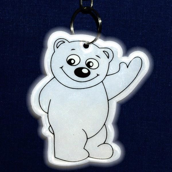 Brelok odblaskowy Beary - Srebrny