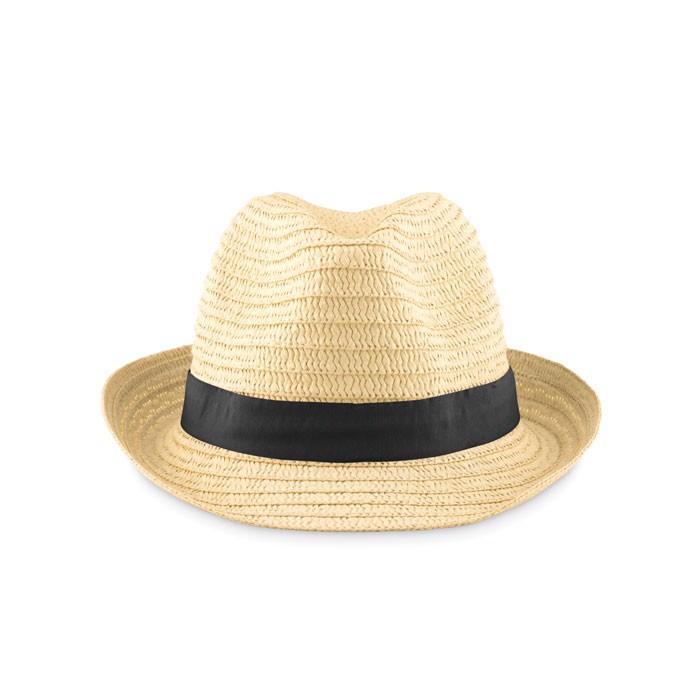 Pălărie din paie naturale Boogie - black