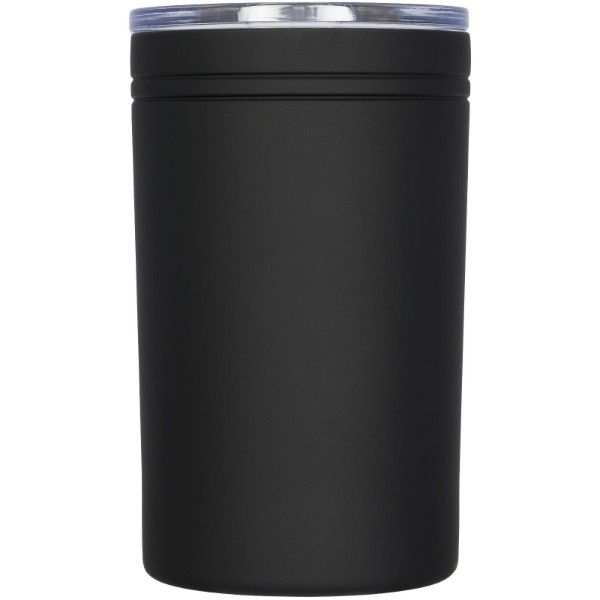 Pika 330 ml vacuum insulated tumbler and insulator - Solid black