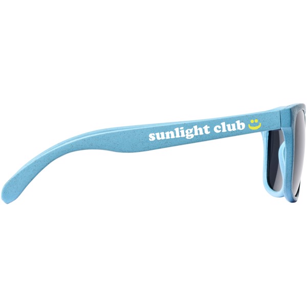 Rongo sluneční brýle z pšeničné slámy - Světle modrá