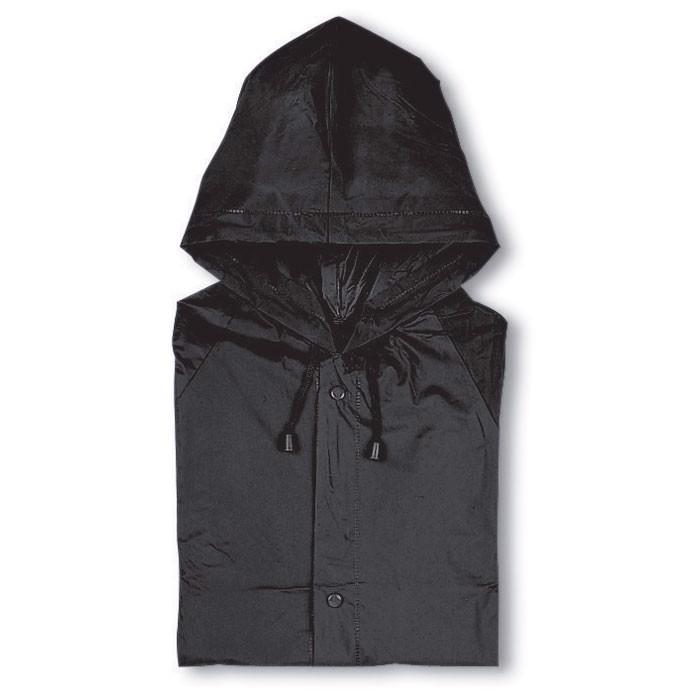 PVC raincoat with hood Blado - Black