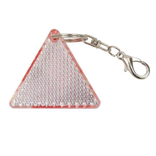 Brelok odblaskowy Safe - Czerwony / Biały