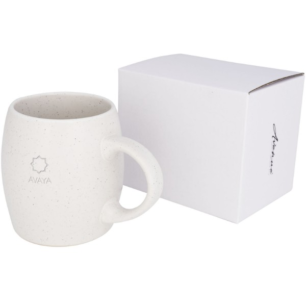 Stone 520 ml ceramic mug - White