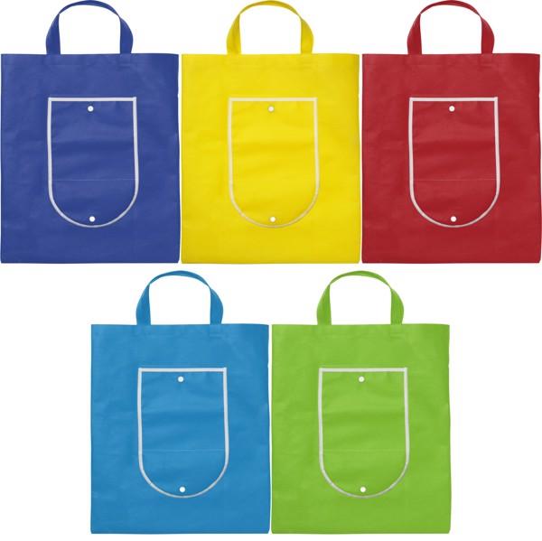 Nonwoven (80 g/m²) foldable shopping bag - Blue