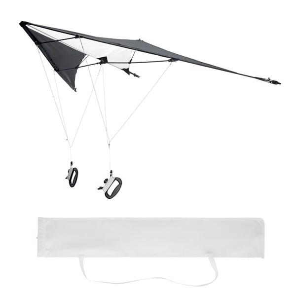 Delta kite in ripstop w/ pouch - czarny