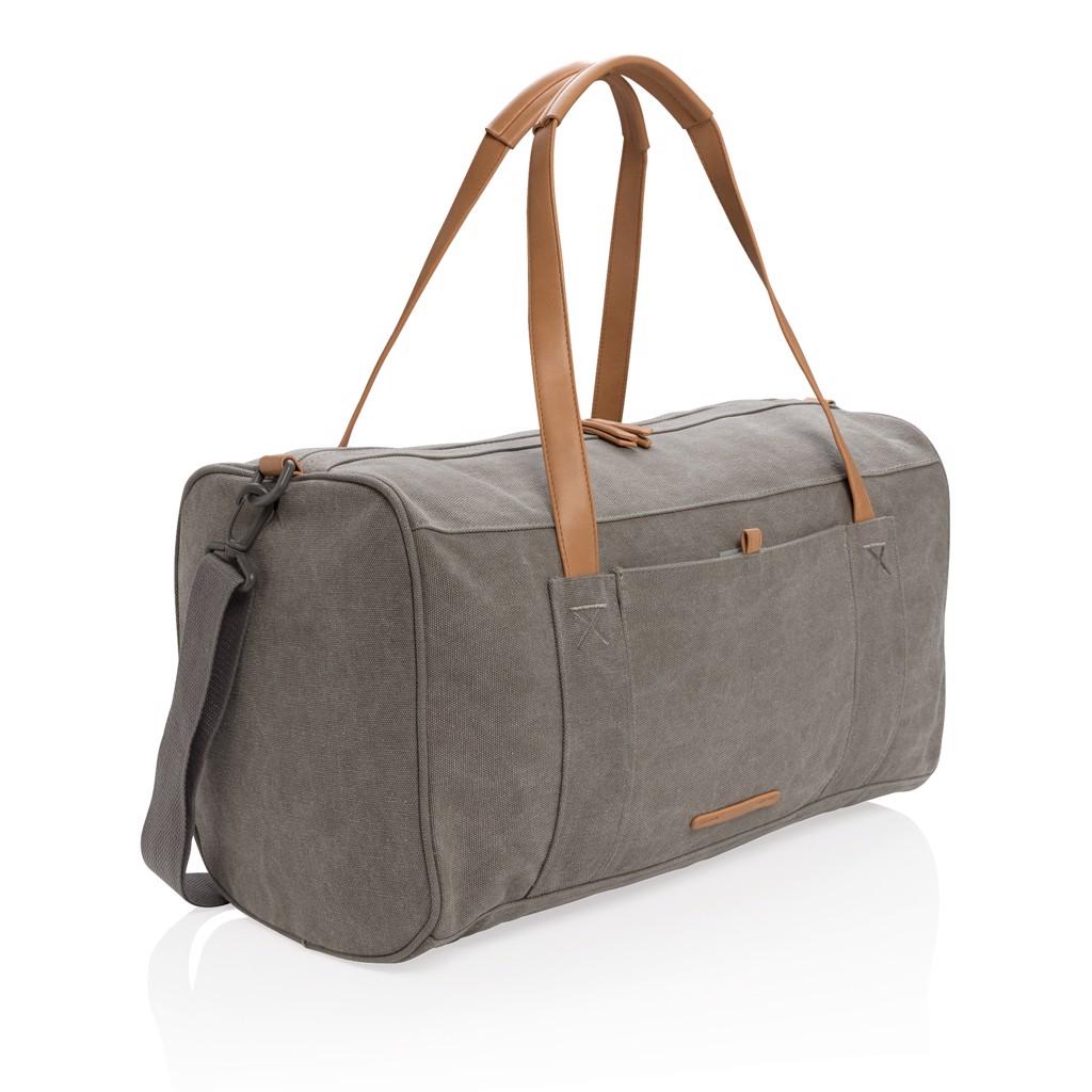 Canvas víkendová taška - Šedá