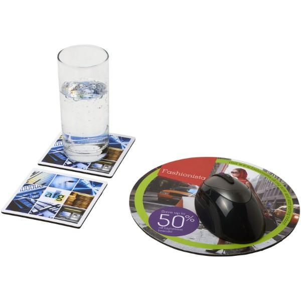 Q-Mat® mouse mat and coaster set combo 6