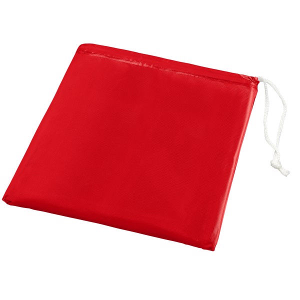 Skládací pláštěnka v sáčku Paulus - Červená s efektem námrazy
