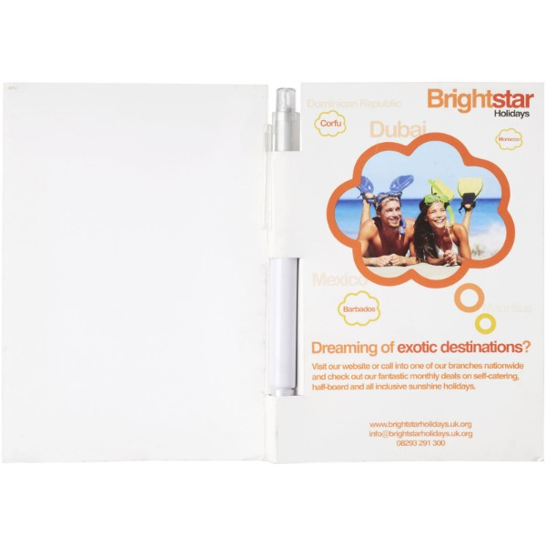 Essential conference pack A5 notepad and pen - White / Transparent clear