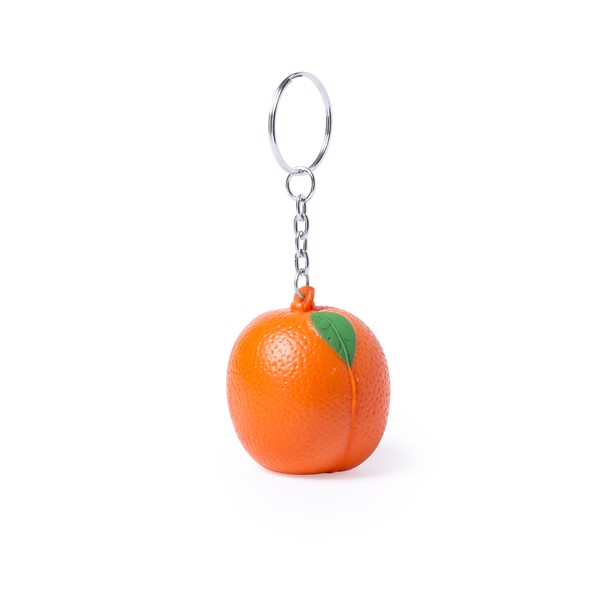 Porte-Clés Antistress Fruty - Orange/Bleu