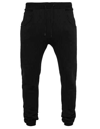 Heavy Deep Crotch Sweatpants - Black / XXL