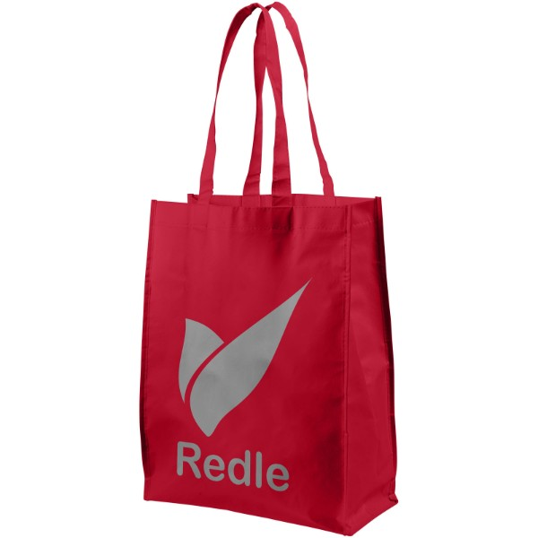 Conessa laminated shopping tote bag - Red