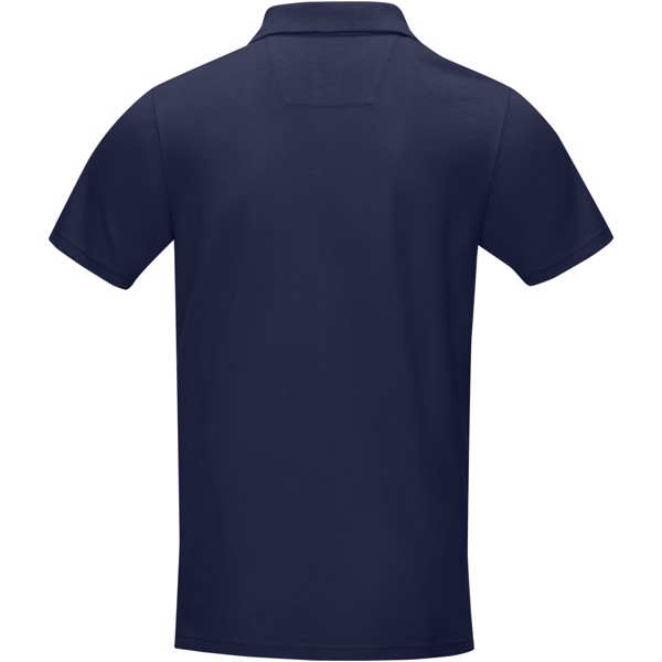 Graphite short sleeve men's GOTS organic polo - Navy / XL