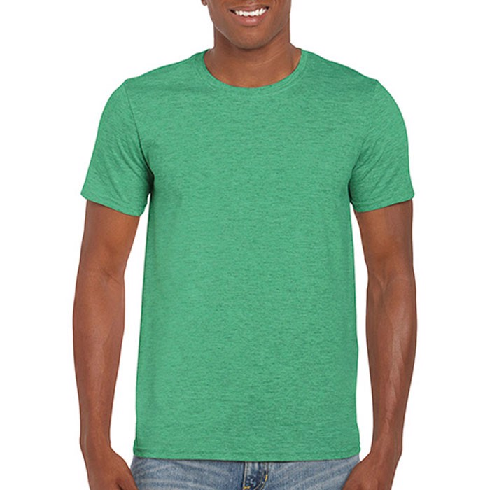 Men's T-Shirt 141/150 g/m2 Ring Spun T-Shirt 64000 - Heather Irish Green / XL