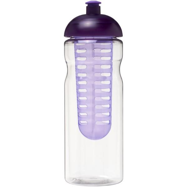 Sportovní láhev s infuzérema kupolovitýmvíčkem H2O Base® 650 ml - Transparent / Purpurová